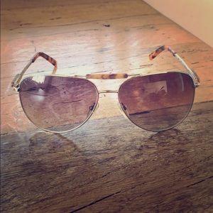 Guess Tortoiseshell Aviator Sunglasses